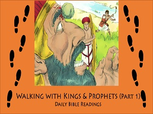 Quick outline of all the daily Bible readings about Samuel, Saul and David