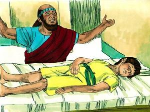 Elisha takes over from Elijah