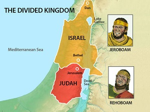 Israel divided into two kingdoms