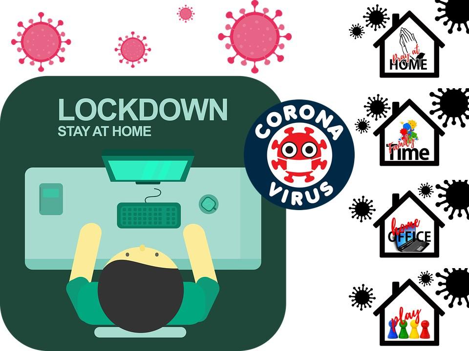 Coronavirus lockdown, stay at home